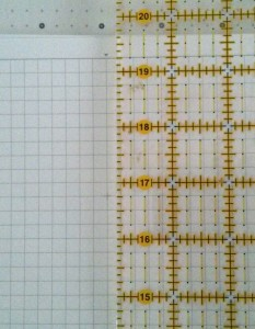 "My graph paper is exactl 1/4"" so I will use this for my test."