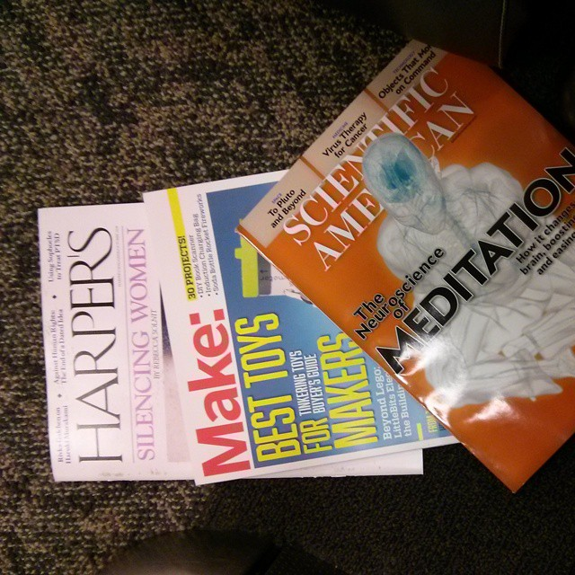 They had interesting magazines in the airport this morning!
