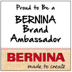 Proud to be a BERNINA Brand Ambassador