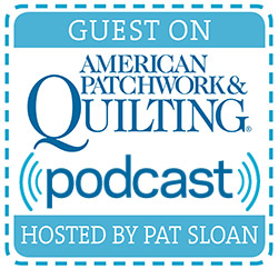Join me today on American Patchwork and Quilting Radio!