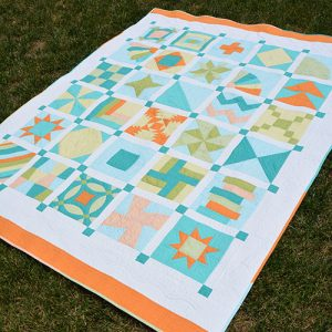 The sampler companion quilt, available in addition.